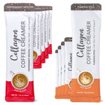 Holiday Flavor Variety Pack | Collagen Coffee Creamer - 10ct Packets | Pumpkin Spice & Peppermint Mocha