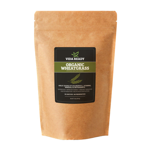 Organic Wheat Grass- 1 lb Resealable Pouch