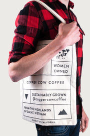 Coffee Lovers' Canvas Tote Bag