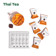 """Thai Tea"" - 5 Tea Drops, 5 creamer packets, mug with Thai Iced Tea and a Tea Drop"