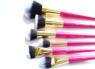 A Pink Face Perfection 6pc Brush Set