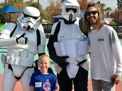 My husband, Kale and the Storm Troopers