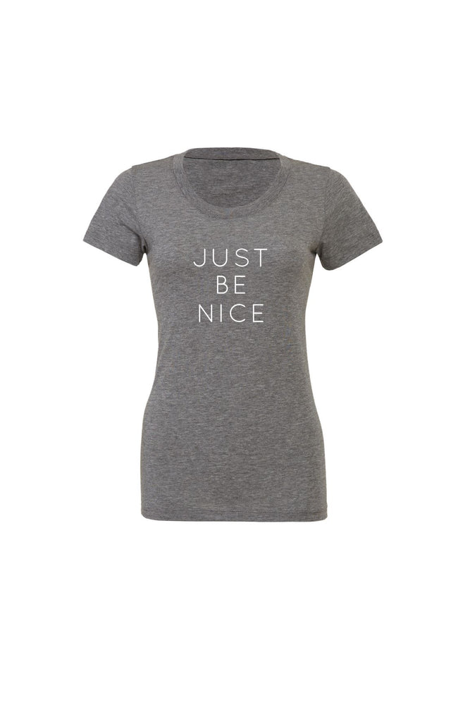Just Be Nice Women's T-Shirt - Olive & Auger