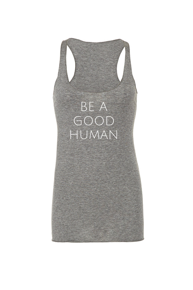 Be A Good Human Women's Tank Top - Olive & Auger