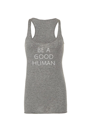 Load image into Gallery viewer, Be A Good Human Women's Tank Top - Olive & Auger