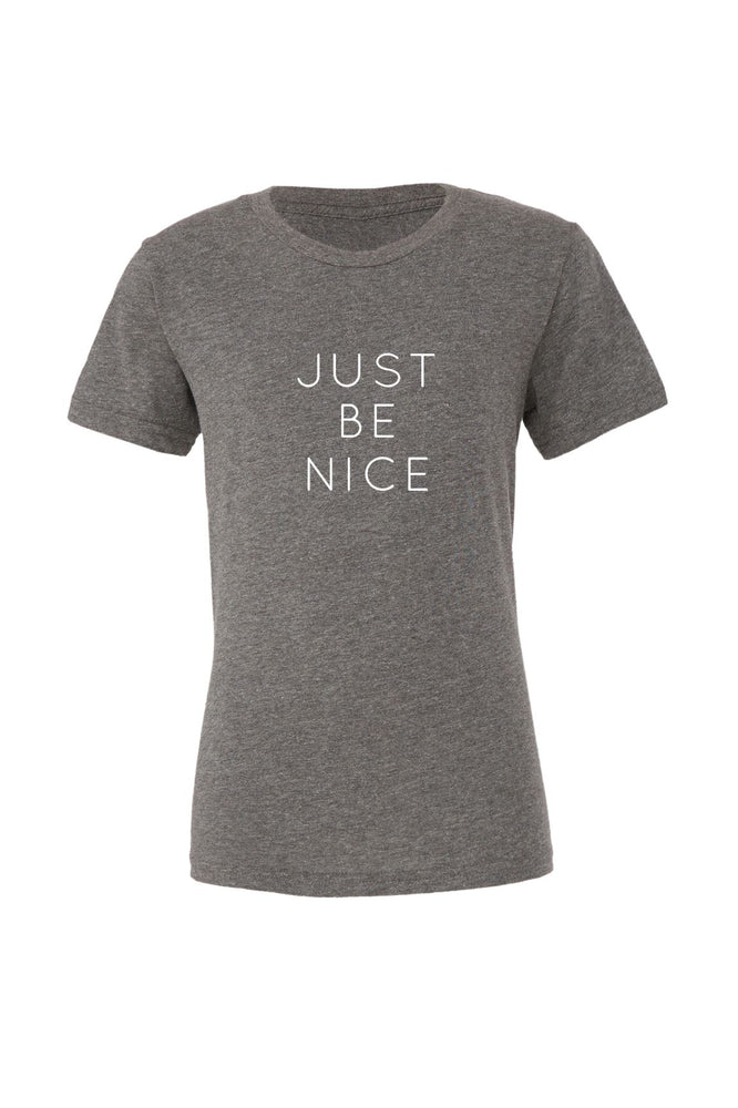 Just Be Nice Kids T-Shirt - Olive & Auger