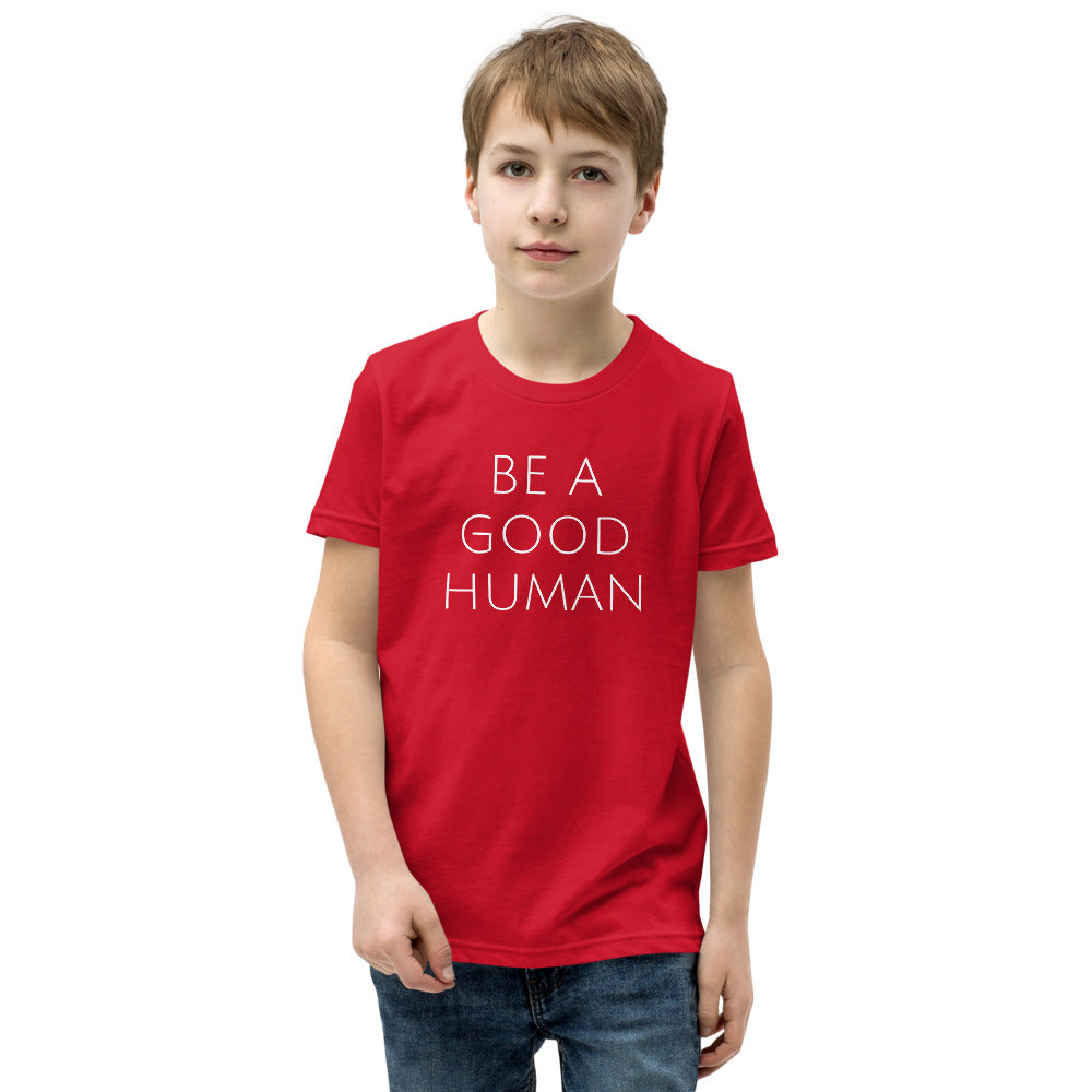 NEW Be a Good Human Kids T-Shirt - Olive & Auger