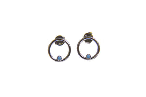 Nash earrings blue zinconia