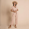 Organic Cotton Joya Jumpsuit - Quartz