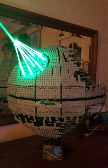 JULITE Led light up kit - Compatible with Lego - Star Wars Death Star II Ultimate Weapon Laser cannon - The Bas Shop