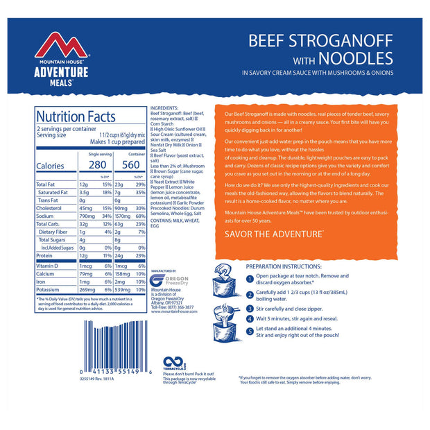 Beef Stroganoff with Noodles-Mountain House