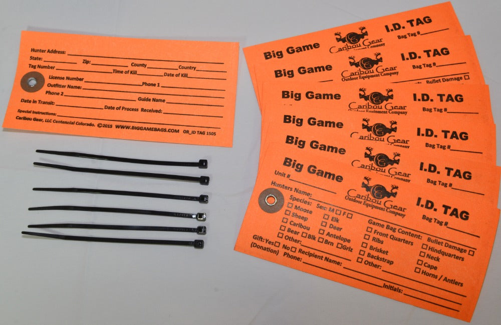 Game Bag ID Tags - Game Bag Content Identification Tag