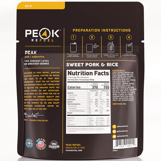 SWEET PORK & RICE by Peak Refuel