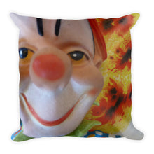 Vintage Clown Double Sided Throw Pillow #1 - Atomic Clown