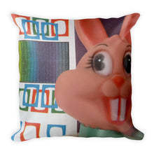 Vintage Toy Bunny x2 Double Sided Throw Pillow!