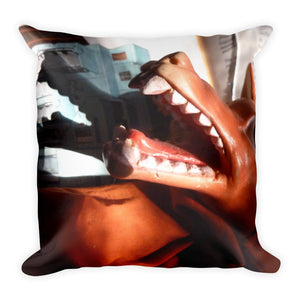 Vintage Toy Wolf and Red Riding Hood Double Sided Throw Pillow!