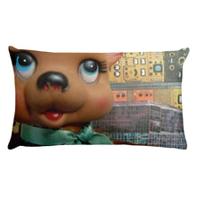 Vintage Toy Bear and Mouse Double Sided Throw Pillow!