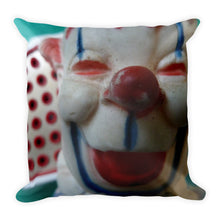 Vintage Clown Double Sided Throw Pillow #3 - Bozo and Squinty