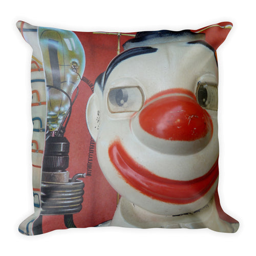 Vintage Clown Double Sided Throw Pillow #4 - Side Eye