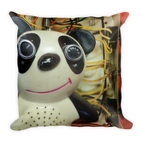 Vintage Toy Panda and Mouse Double Sided Throw Pillow!