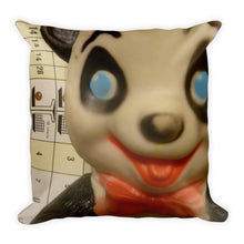 Vintage Panda and Boy Double Sided Throw Pillow!