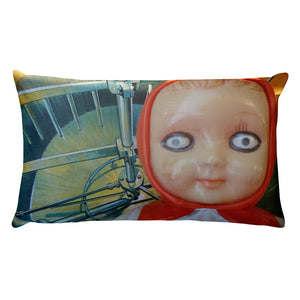 Vintage Toy Girl and Boy Double Sided Throw Pillow!