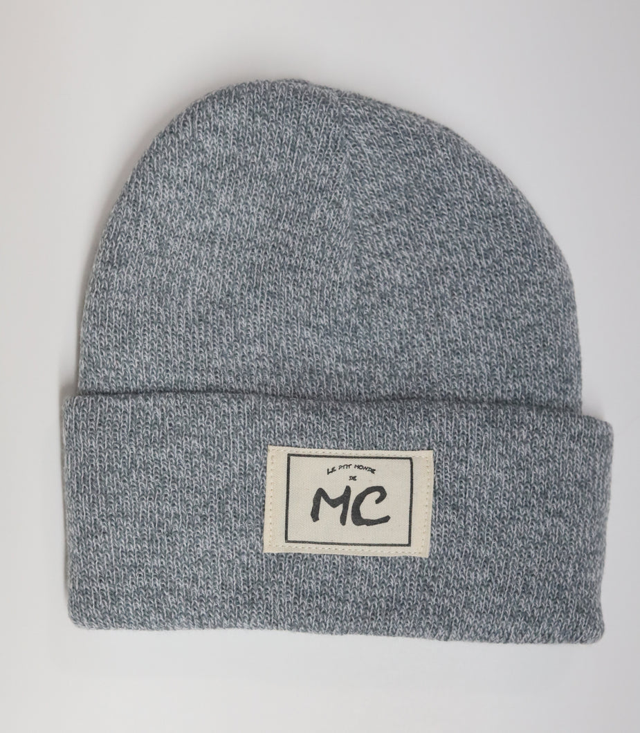 Tuque  en lainage gris chiné
