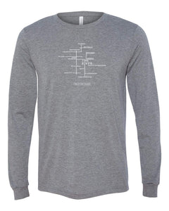 River Map Long Sleeve Shirt