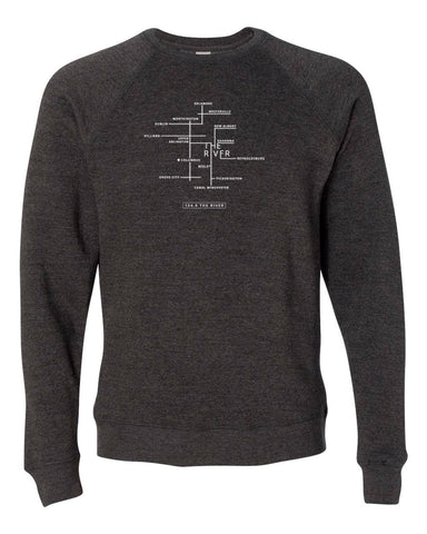 River Map Crewneck Sweatshirt
