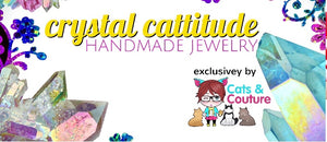 Crystal Cattitude handmade gemstone and crystal jewelry by Cats & Couture
