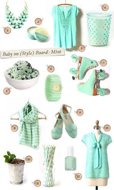 Baby on (Style) Board - Craving: Mint