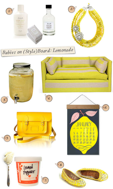 Babies on (Style) Board ~ Craving: Lemonade