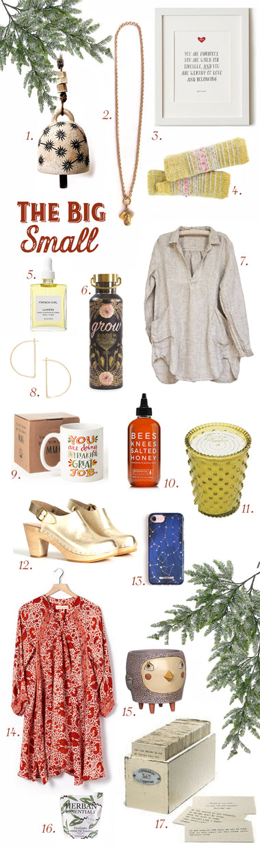 The Big Small ~ A Gift Guide