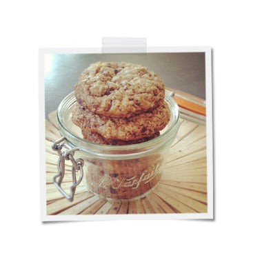 Dark Chocolate Brown Butter Oatmeal Cookies