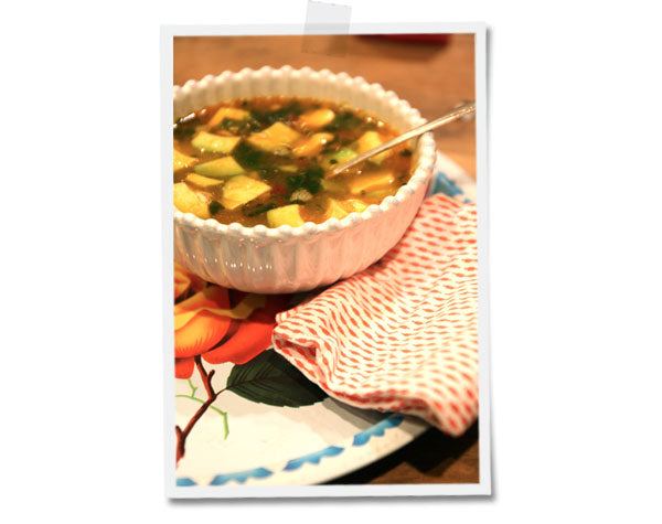 Lime Chili Chicken Soup - for a chilly spring day