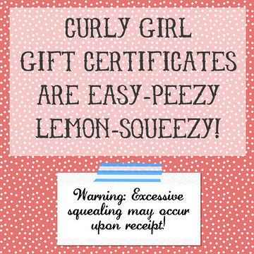 Curly Girl Design Gift Card