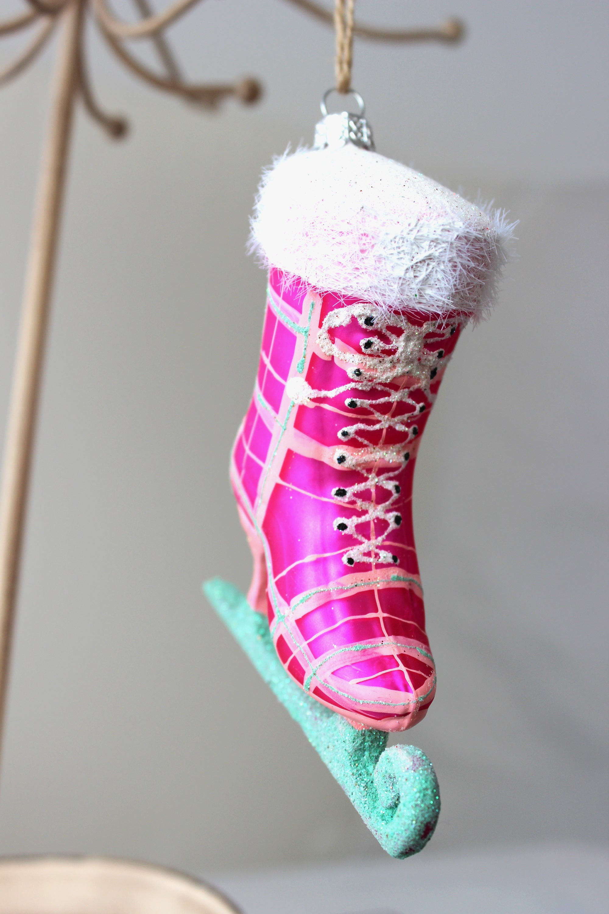 Ice Skating in the Park Ornament (Pink)