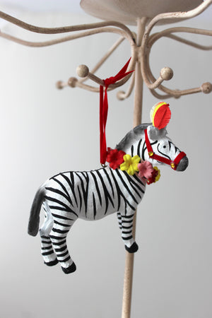 Fantastical Zebra Ornament