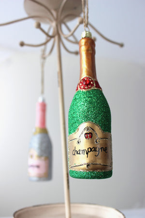 Bottle of Bubbly Ornament - Classic