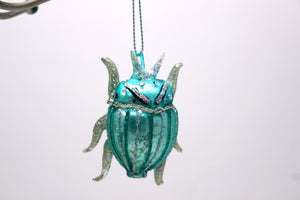 Dazzling Green Beetle Ornament