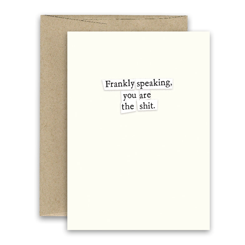 Frankly Speaking' Simply Put ' Card