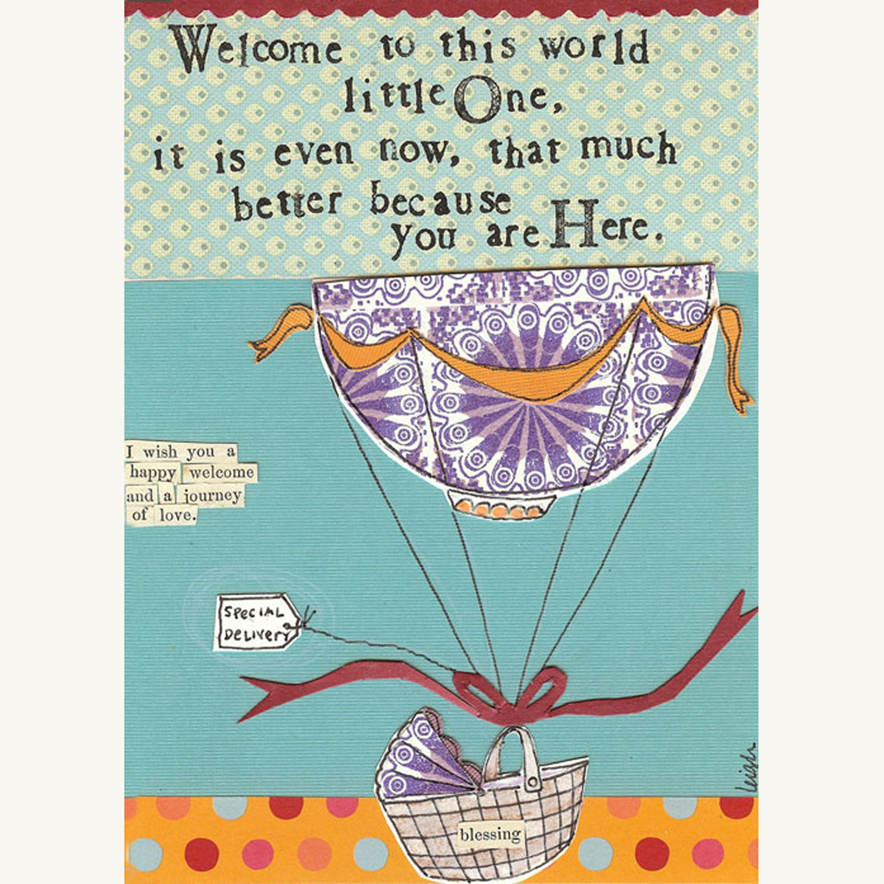 Welcome to the World  Mini Canvas