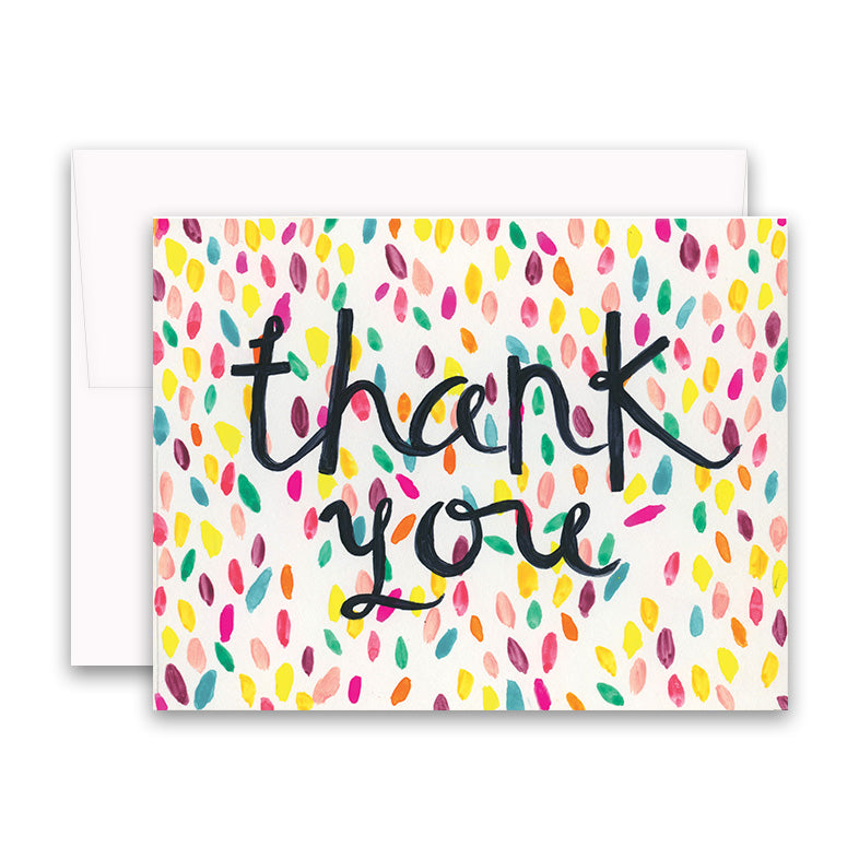 Confetti Card Thank You Card