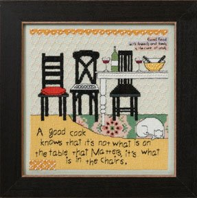 in the chairs cross stitch kit