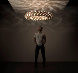 An innovator in flat-pack Lighting, David Trubridge