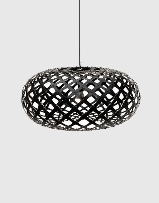 Kina Painted 2 Sides Ceiling Pendant | By David Trubridge Ceiling Pendant David Trubridge ø1000mm +£ø1000mm +£940 Black