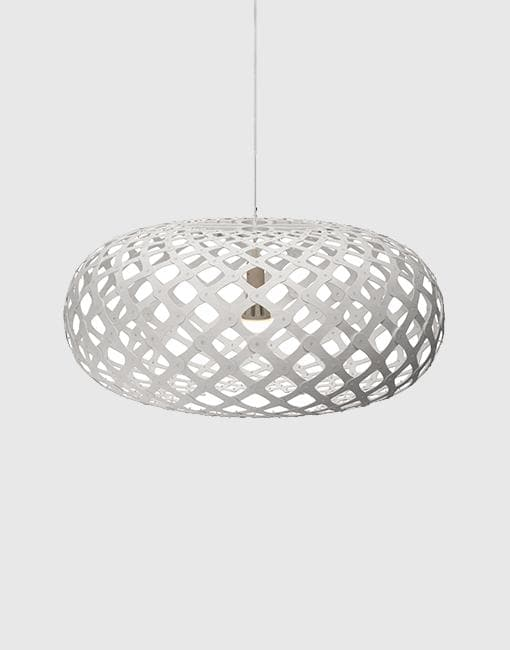 Kina Painted 2 Sides Ceiling Pendant | By David Trubridge Ceiling Pendant David Trubridge ø1000mm +£940 White