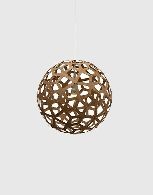 "Coral Ceiling Pendant | By David Trubridge Ceiling Pendant David Trubridge 400mm (16"") Caramel"