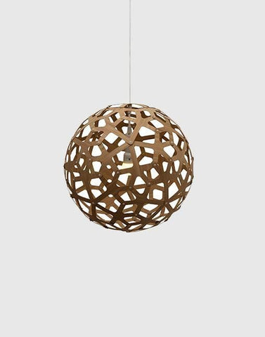400mm Caramel Coral Ceiling Pendant By David Trubridge