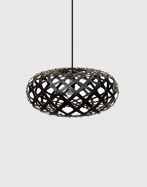Kina Painted 2 Sides Ceiling Pendant | By David Trubridge Ceiling Pendant David Trubridge ø440mm Black